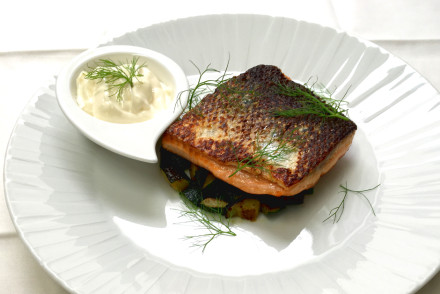 Roasted salmon with sesam